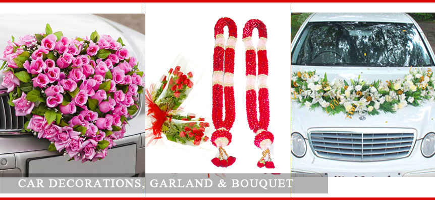 Car Decoration Garland And Bouquets Jasmine Flowers Flowers
